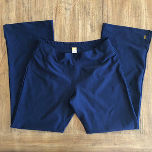 LucyTech Navy Yoga Pants w Bottom Slit Excellent!